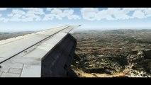 Flight Simulator X | HD | 737 landing Aerosoft Ibiza | REX 2.0