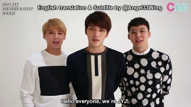 [Eng Sub] 2015 JYJ Membership Week Comment from JYJ
