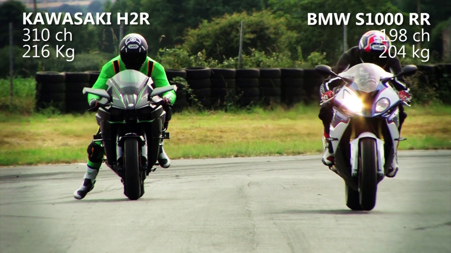 Test D Acceleration Kawasaki H2r Vs Bmw S1000rr Video Dailymotion