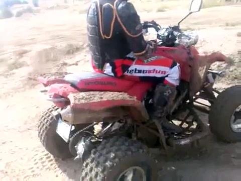 ATV (quad) rally. , with Hyosung atv    te 450   en alcorcón
