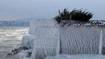 Bords du lac Léman gelés (HD)