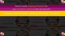 Synoptic Web Designer: Website Animator extension: Animate website in 1 minute