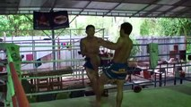 Rittichai Training at Chorenrit Muay Thai Camp in Koh Phangan