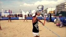 Le beach tennis - les coups : le service