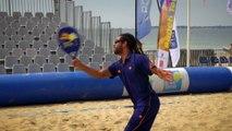 Le beach tennis - les coups : Le coup droit et le revers