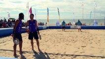 Le beach tennis - la tactique : repousser le joueur