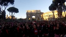 One Billion Rising Roma flashmob Colosseo