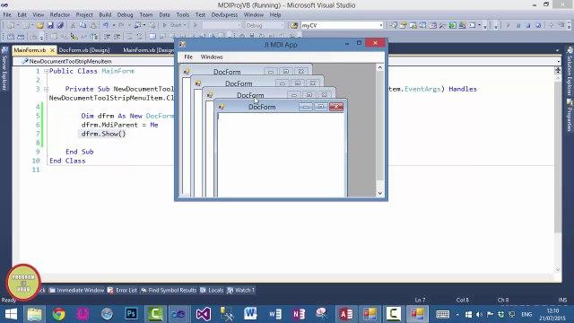 VB NET Create MDI Application In Urdu