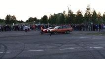Old VW Passat Car beats Ferrari during drag race start