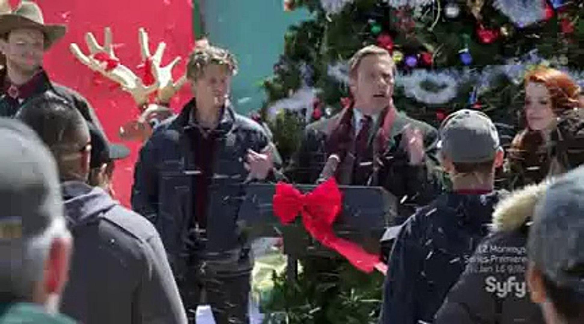 Christmas Icetastrophe.The Scene Falling Object From Space In The Movie Christmas Icetastrophe