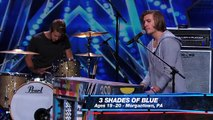 3 Shades of Blue  Pop Rock Band Covers Nina Simone's 'Feeling Good' America's Got Talent 2015