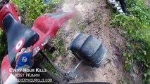 ATC 250R, Banshee, YZ 250 Hill climbing with EPIC crashes. Florida Hill Climbs