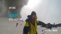 ZAP DU JOUR #185 : Des skieurs échappent à une éruption sur le volcan Etna / Old but Gold / Un réveil brutal /