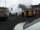 FIRE: Dublin Fire Brigade attending to car fire