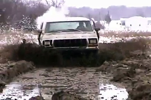 78 & 83 Ford Bronco playing in the mud