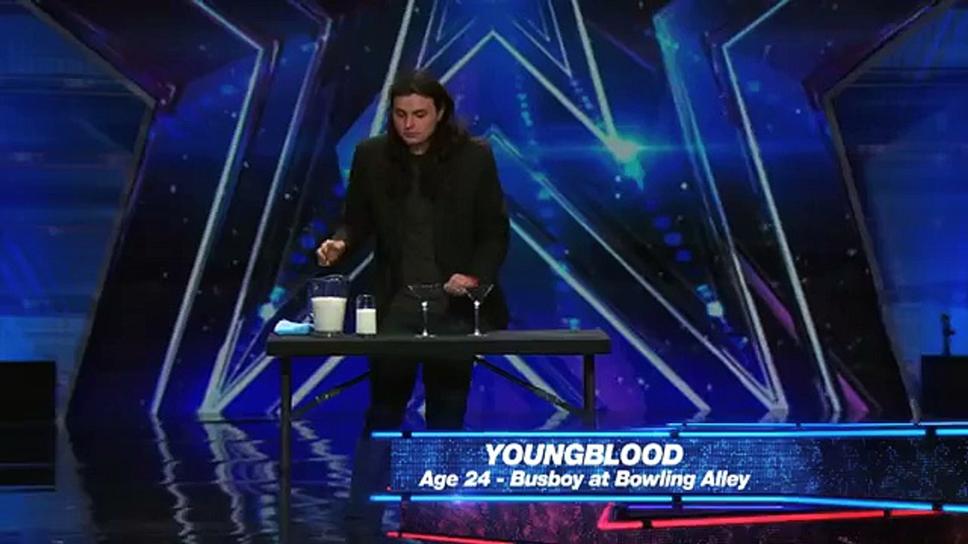 Youngblood Performer Squirts Milk Out of His Eyes America's Got Talent 2015