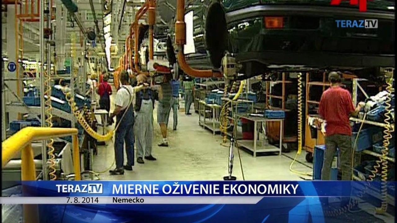 Nemecká ekonomika ožíva, firmy zaznamenávajú rast