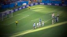 FOOTBALL HIGHLIGHTS ~ Uruguay-Costa Rica 1-0 Edinson Cavani Penalty Kick (World Cup 2014)