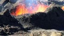 Éruption volcanique piton Fournaise - 21 juin 2014 - Réunion