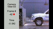 2012 Toyota Tacoma Crew Cab NHTSA Frontal Impact