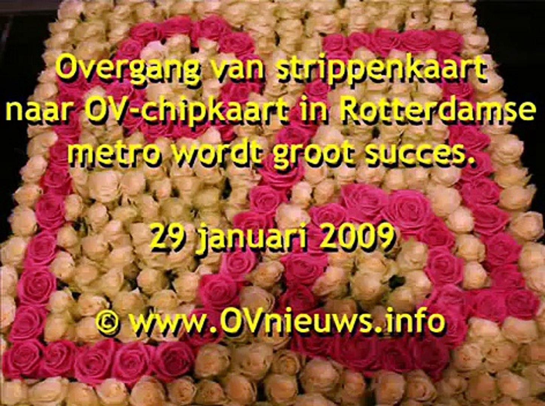 Overgang naar OV-chipkaart in Rotterdamse metro wordt groot succes.