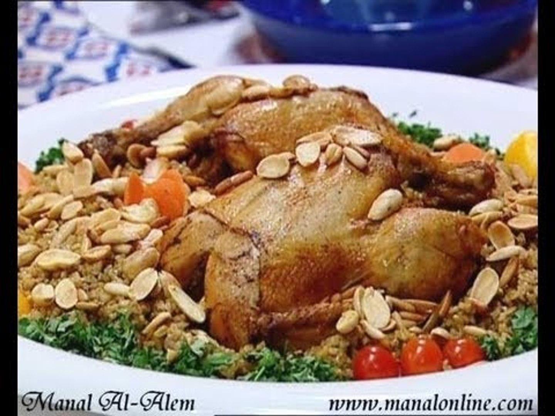 دجاج محشي بالفريك - منال العالم