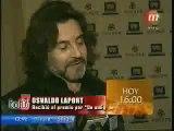 Osvaldo Laport y Viviana Saez- nota en los premios FUND TV (05.07.2010)