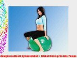 Newgen medicals Gymnastikball   Sitzball 65cm gr?n inkl. Pumpe