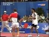 Boris Becker, Mansur Bahrami vs. Carl-Uwe Steeb, Yannick Noah - world class tennis tricks and comedy