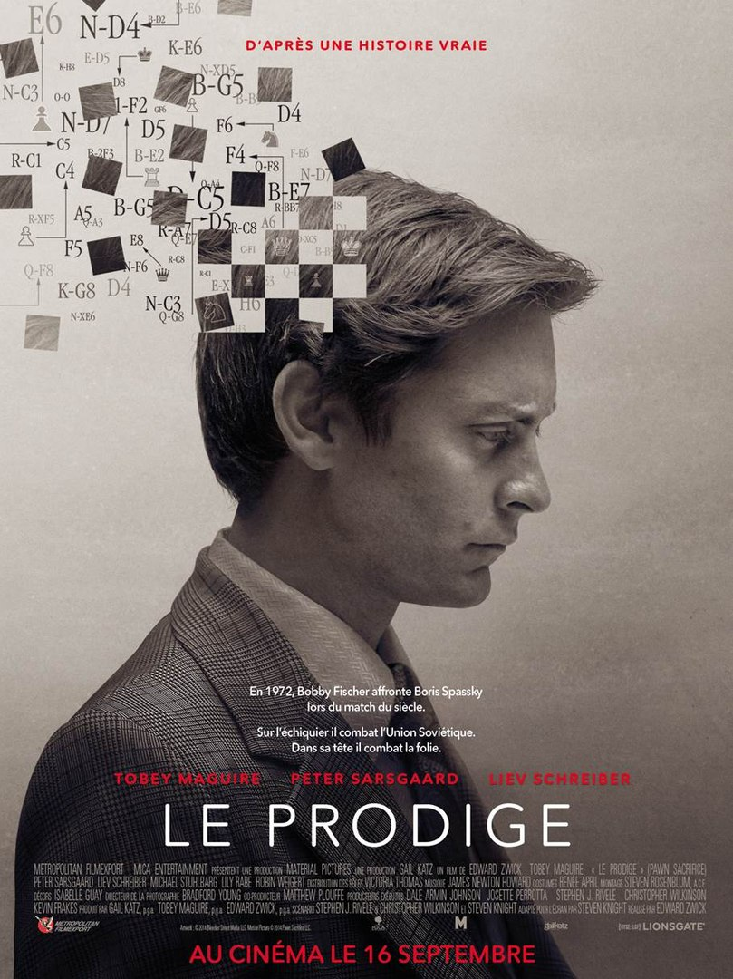 Le Prodige, avec Tobey Maguire en  Bobby Fischer en Bobby Fischer