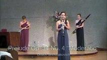 Shostakovich Prelude Opus 34 #4 for Flute, Clarinet & Bassoon Woodwind Trio