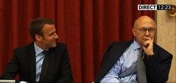 Emmanuel Macron n'a pas fait rire Michel Sapin, de retour après son accident