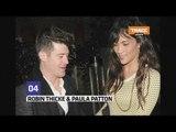 Robin Thicke et sa femme passe une soirée bien arrosée à Londres