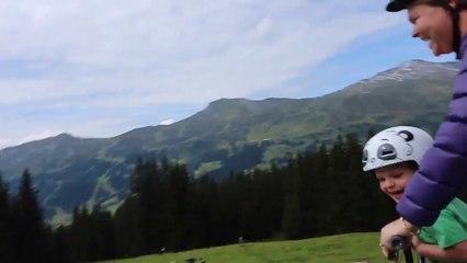 Lenzi Bike Ride Down Rothorn, Switzerland