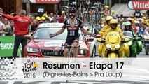 Resumen - Etapa 17 (Digne-les-Bains > Pra Loup) - Tour de France 2015