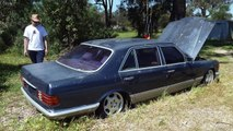 Mercedes Benz w126 with full hydropneumatic suspension