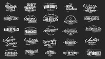Vintage Typography Pack Slideshow Creator Text Presets By xFxDesigns After effects Template