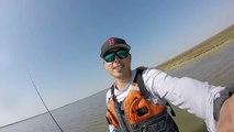 Sight Casting Redfish---Pierce Marsh Fishing Jones Bay Friday Febuary 13, 2015
