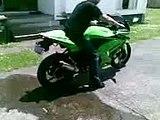 Monster Energy Kawasaki Ninja 250r burnout