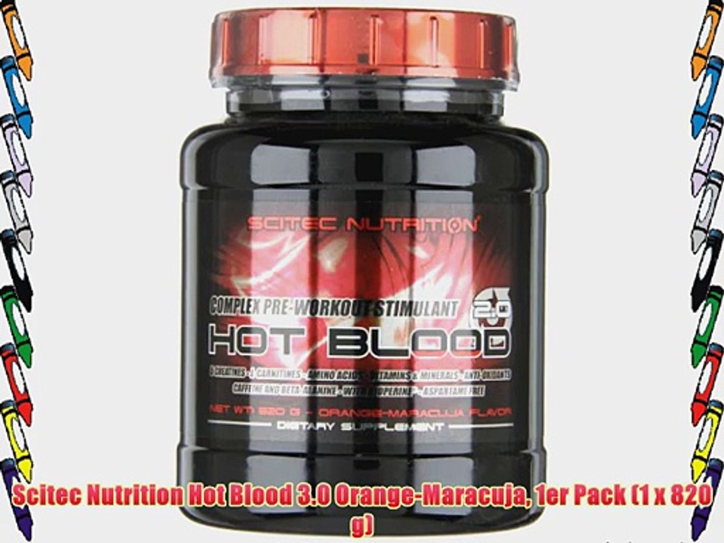 Scitec Nutrition Hot Blood 3.0 Orange-Maracuja 1er Pack (1 x 820 g)