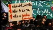 Protestas de estudiantes chilenos por la educación pública