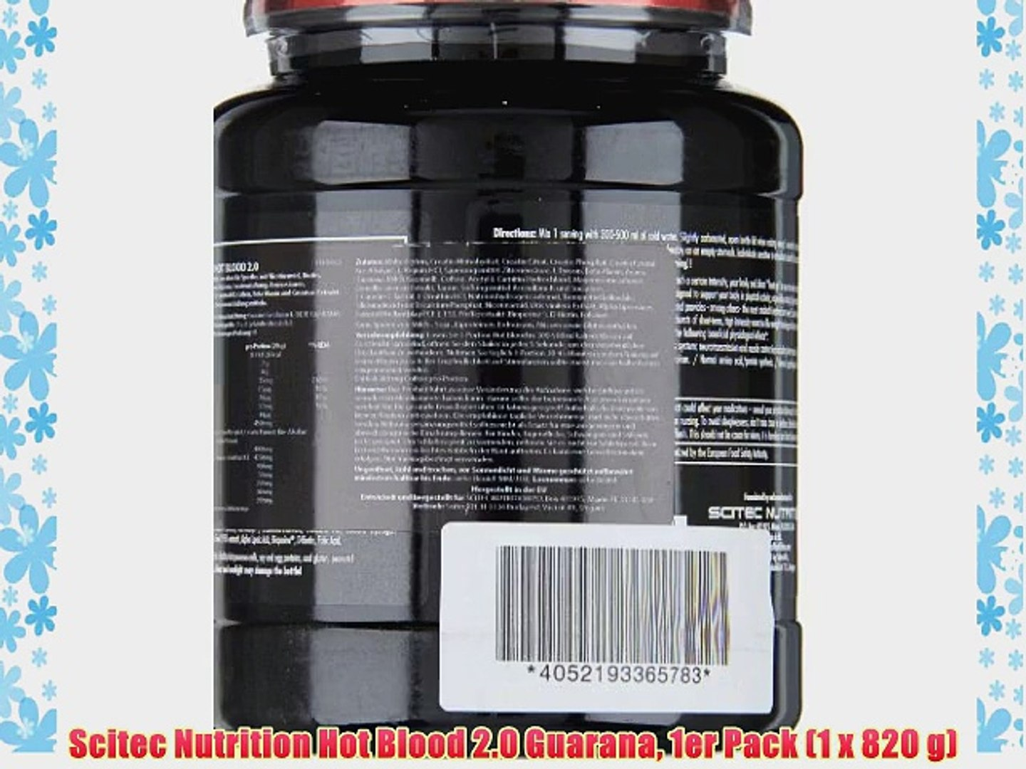Scitec Nutrition Hot Blood 2.0 Guarana 1er Pack (1 x 820 g)