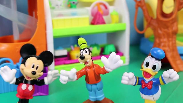 Mickey Mouse with Peppa Pig buy Shopkins in Hi Ho Cherry o Game Parody with Minnie and Dad