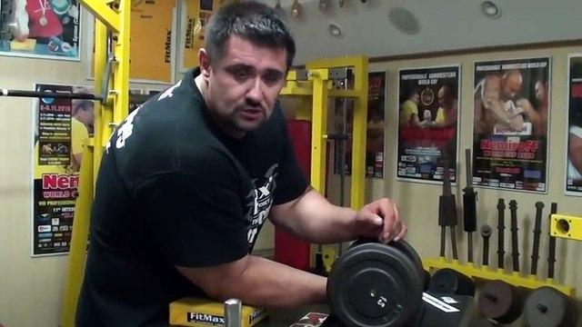 Biceps training 40 - Training of Arm wrestling (Polish version)