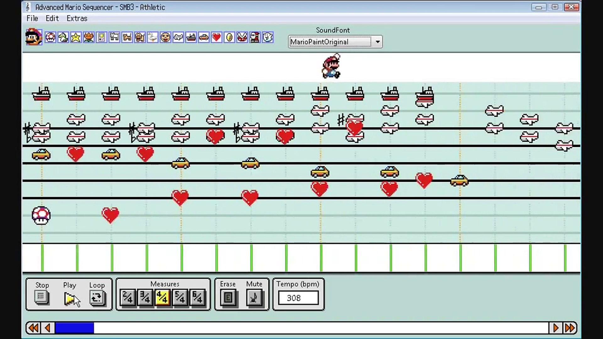 Super Mario Bros  3: Athletic Overworld Advanced Mario Sequencer