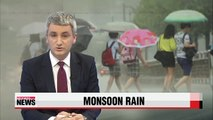 Monsoon rain expected across most of Korea