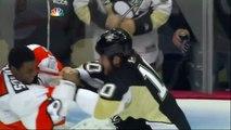 Tanner Glass vs Wayne Simmonds fight Feb 20 2013 Philadelphia Flyers vs Pittsburgh Penguins NHL