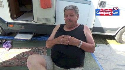 René, chauffeur routier à la retraite et camping-cariste
