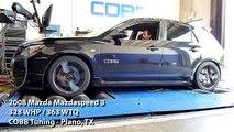 COBB Tuning - Dyno 328 WHP / 363 WTQ - 2008 Mazdaspeed 3 - COBB Tuning Plano