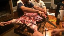 Crucifying a lamb in Bahia Blanca